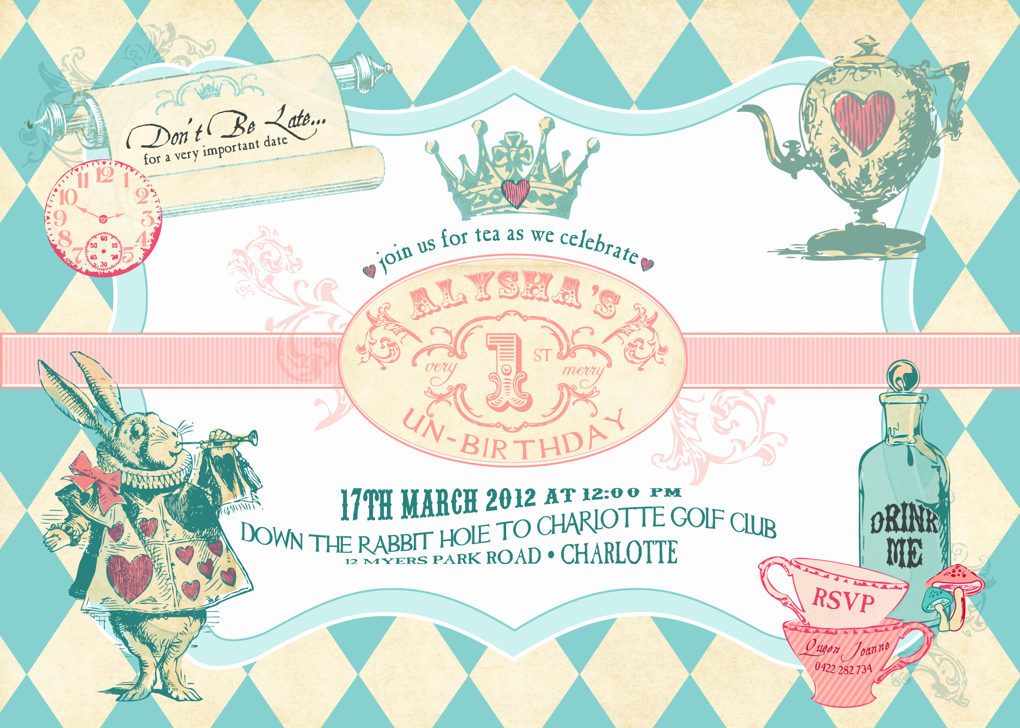 Alice In Wonderland Invitation Templates Luxury Alice In Wonderland Birthday Invitations