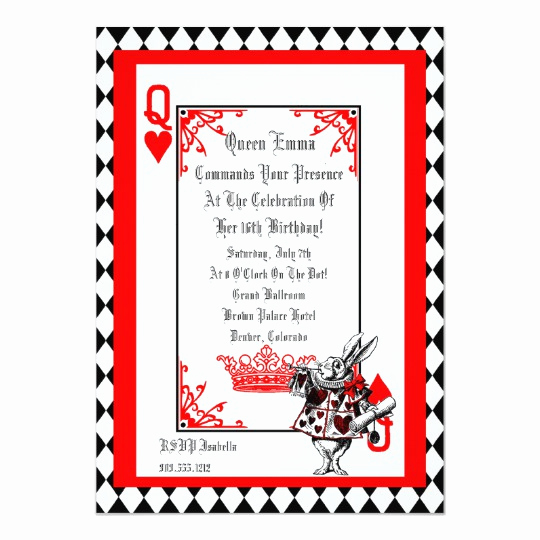 Alice In Wonderland Invitation Templates Luxury Alice In Wonderland White Rabbit Party Invitation