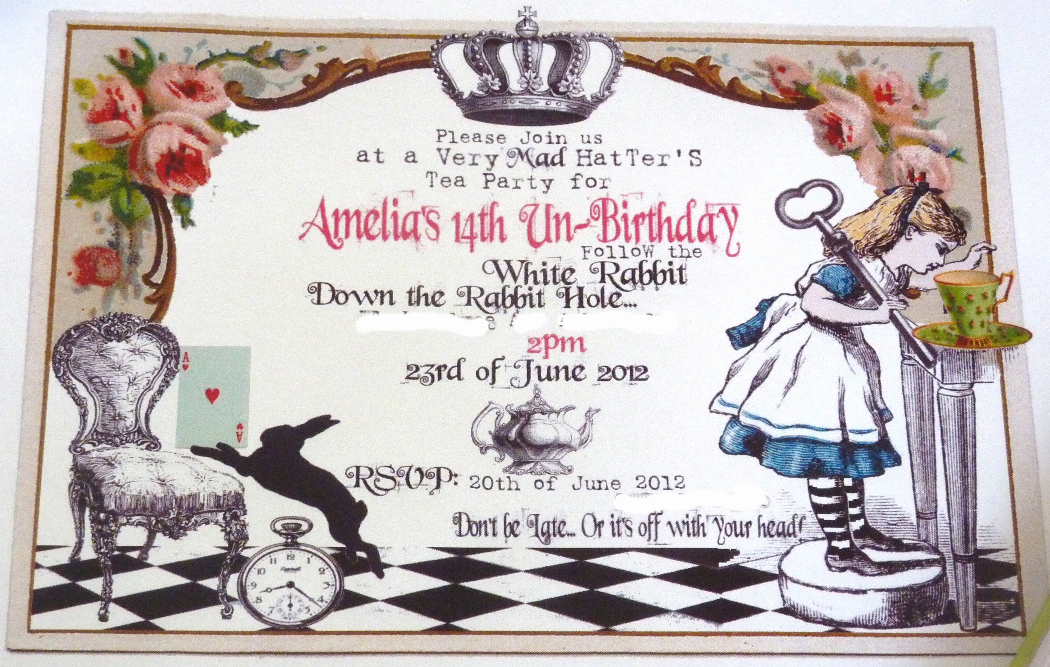 Alice In Wonderland Invitation Wording Beautiful Alice In Wonderland Birthday Invitations