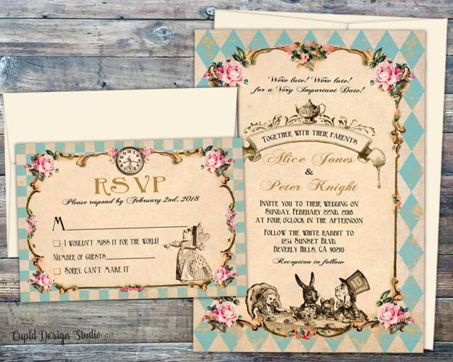 Alice In Wonderland Invitation Wording Lovely Fairytale Wedding Invitations Wedding Invitations Alice