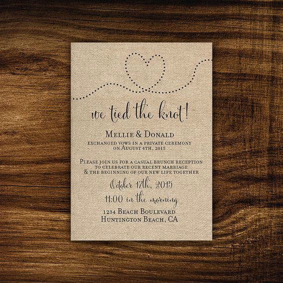 Already Married Wedding Invitation Best Of Camilla Printable Printed Elopement Reception Invitation