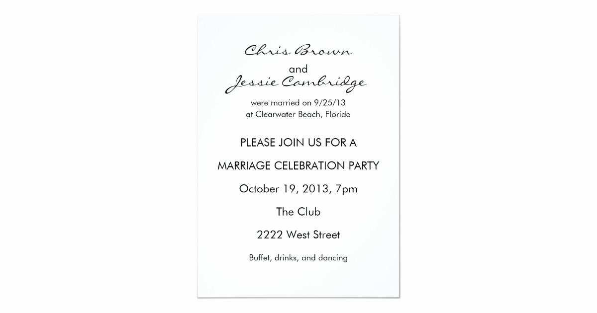 Already Married Wedding Invitation Elegant Already Married Custom Wedding Party Invitation