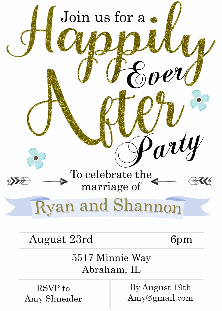 Already Married Wedding Invitation Elegant Elopement Party Invitations Reception Ly Invitations