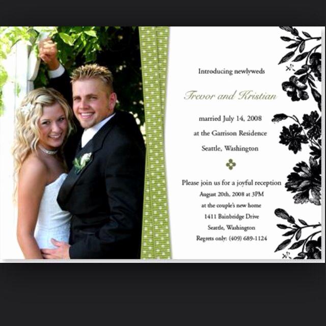 Already Married Wedding Invitation Elegant We Re Already Married Wedding Announcements