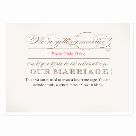 Already Married Wedding Invitation Lovely We Re Getting Married Wedding Invitation Invitations
