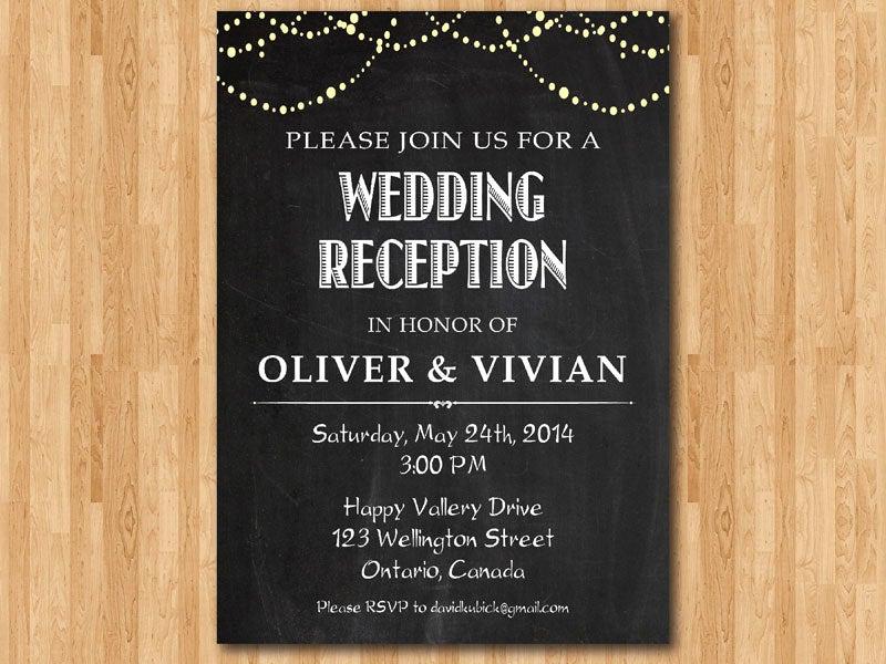 Already Married Wedding Invitation Lovely Wedding Reception Invitation Reception Invite Chalkboard