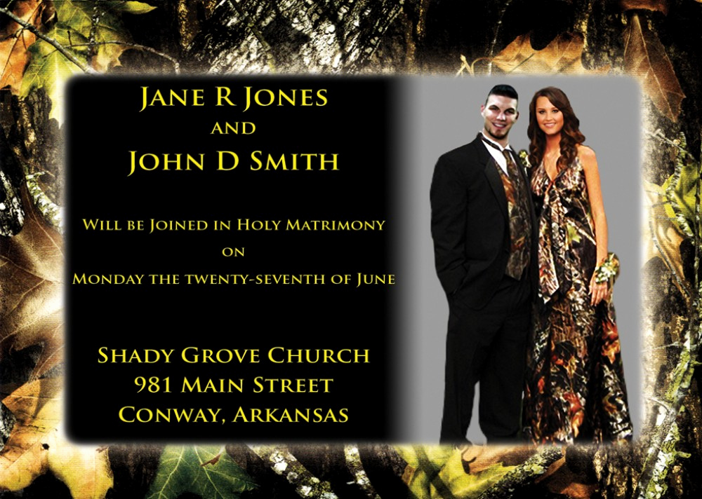 Already Married Wedding Invitation Wording Awesome Camouflage Wedding Invitations Mossy Oak Camouflage
