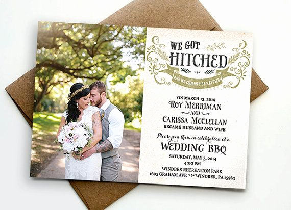 Already Married Wedding Invitation Wording Luxury Post Wedding Reception Invitation We Got Hitched