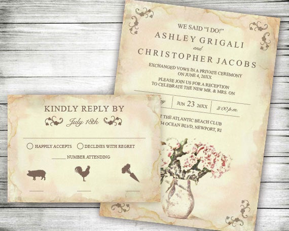 Already Married Wedding Invitation Wording New Elopement Wedding Reception Ly Invites We Said I Do