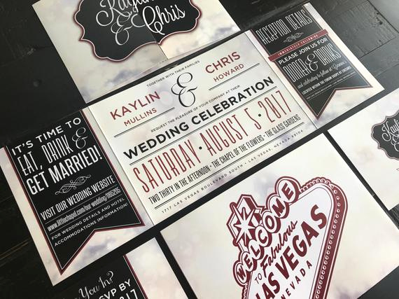 Already Married Wedding Invitation Wording Unique Las Vegas Custom Fold Wedding Invitations Married In Vegas
