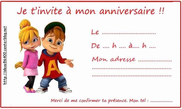 Alvin and the Chipmunks Invitation Inspirational Invitation