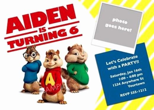 Alvin and the Chipmunks Invitation Unique Alvin and the Chipmunks Birthday Party