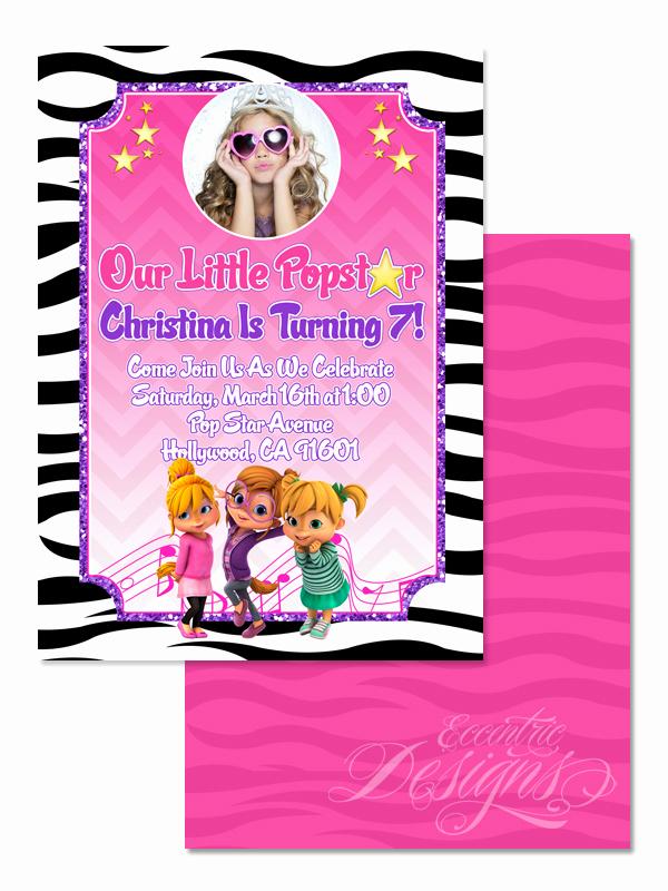 Alvin and the Chipmunks Invitation Unique Eccentric Designs by Latisha Horton Alvin and the