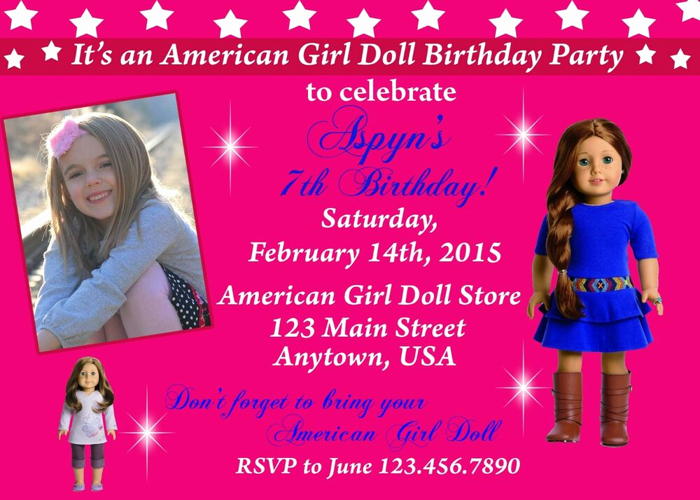 American Girl Birthday Invitation Awesome American Girl Birthday Invitation Printable Invitations