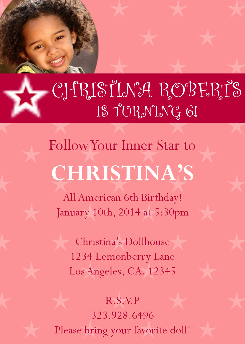 American Girl Birthday Invitation Awesome American Girl Birthday Party Invitations by Lemonberryboutique