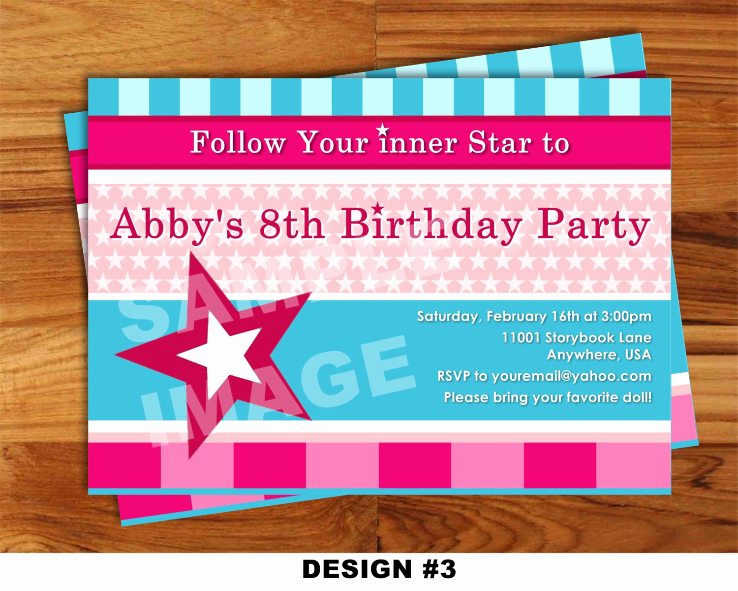 American Girl Birthday Invitation Awesome American Girl Invitation Doll Invitation by