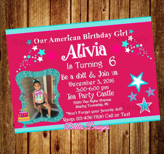 American Girl Birthday Invitation Awesome American Party Invitations Girl Doll & Me Birthday Party