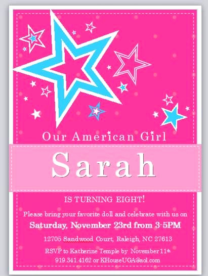 American Girl Birthday Invitation Beautiful 240 Best Images About American Girl Party Ideas On