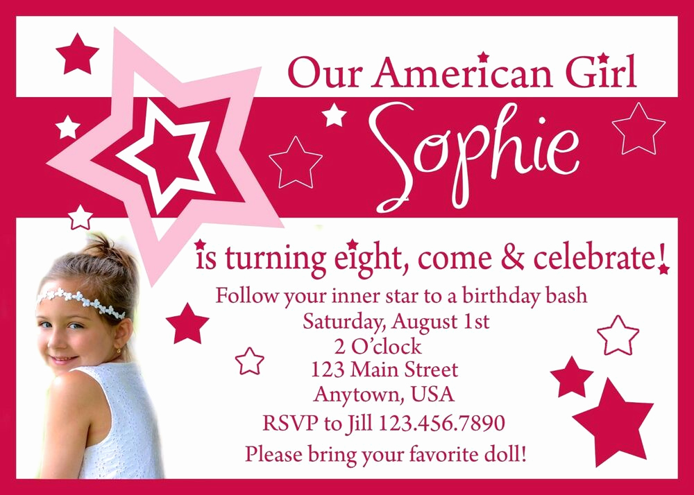 American Girl Birthday Invitation Best Of American Girl Birthday Invitation Invitations American