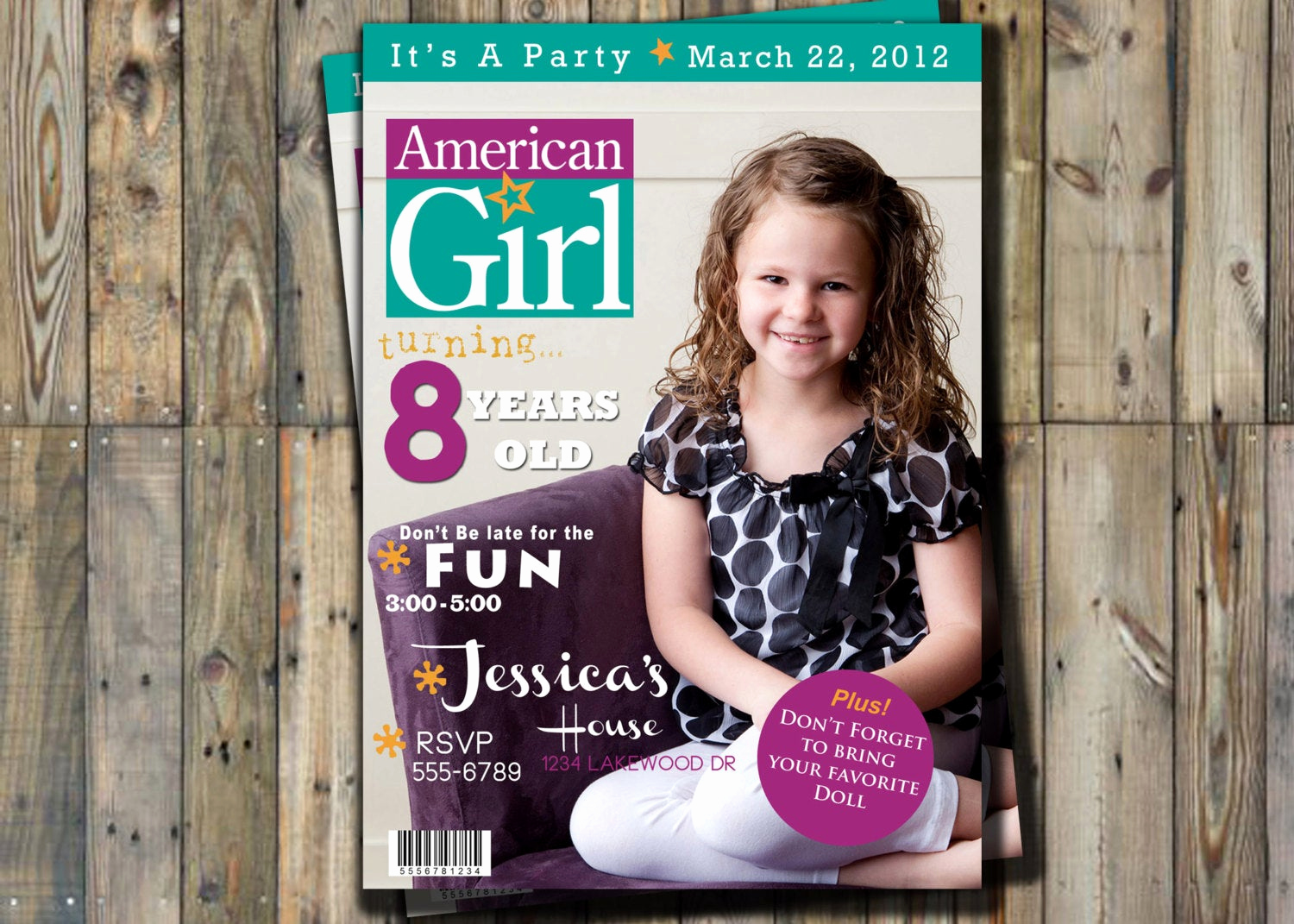 American Girl Birthday Invitation Luxury American Girl Doll Birthday Invitation by Sweetandsaltysisters