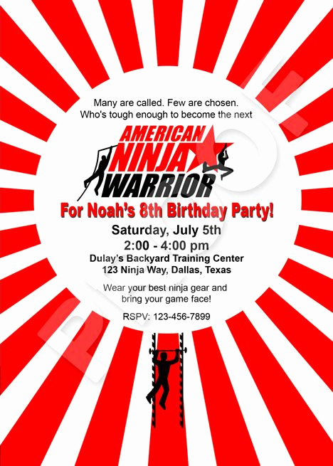 American Ninja Warrior Invitation Awesome 17 Best Images About American Ninja Warrior Party On