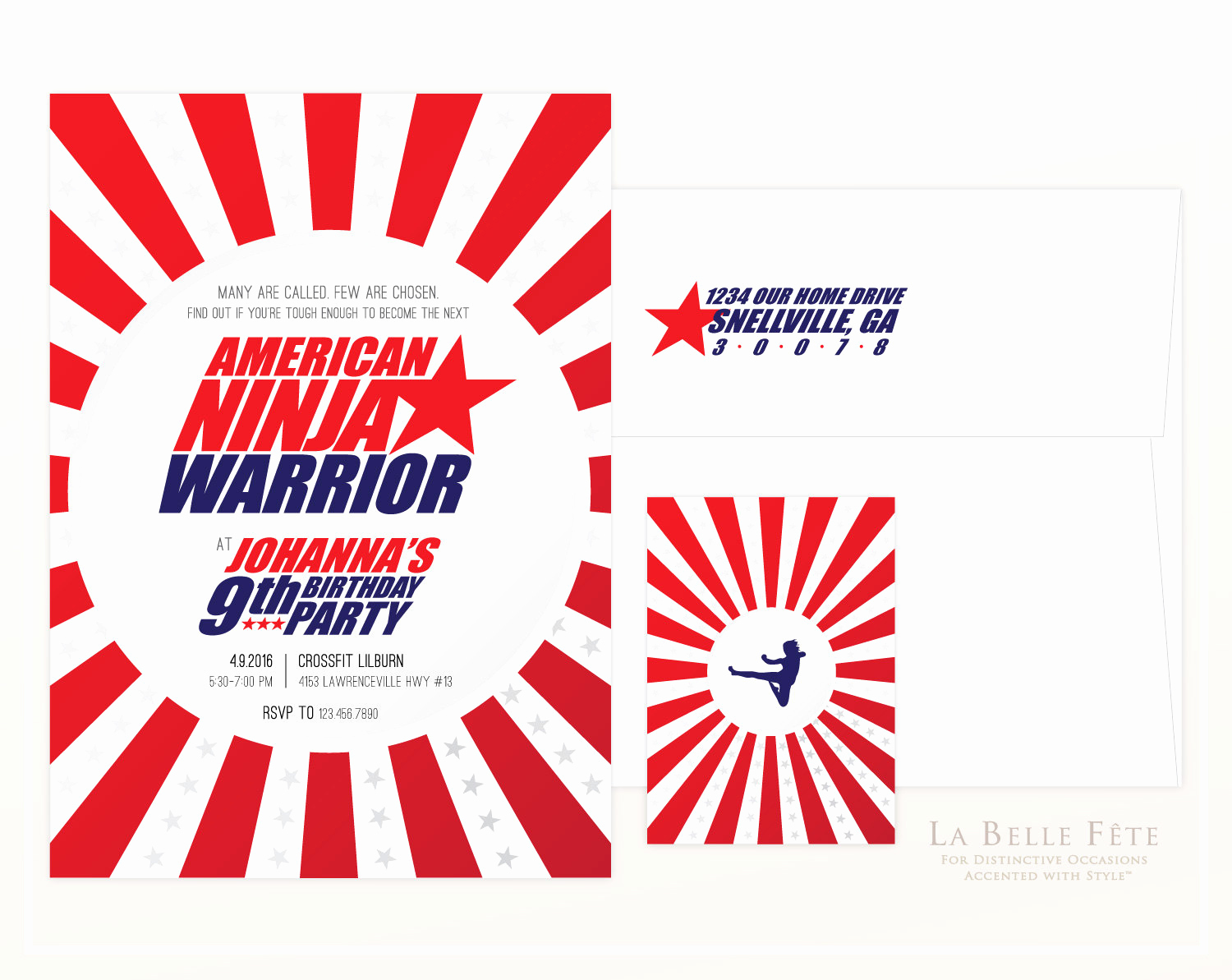 American Ninja Warrior Invitation Awesome American Ninja Warrior Birthday Party Invitation
