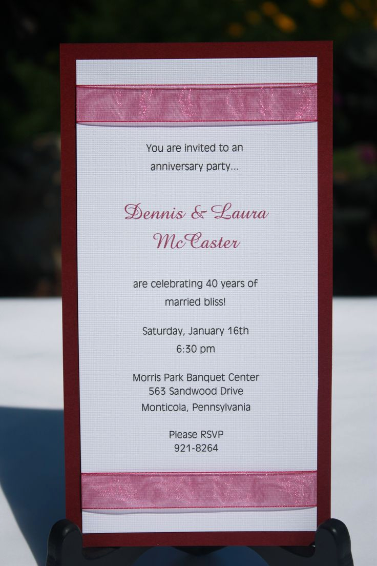 Anniversary Party Invitation Wording Beautiful 27 Best Images About Anniversary Invitations On Pinterest