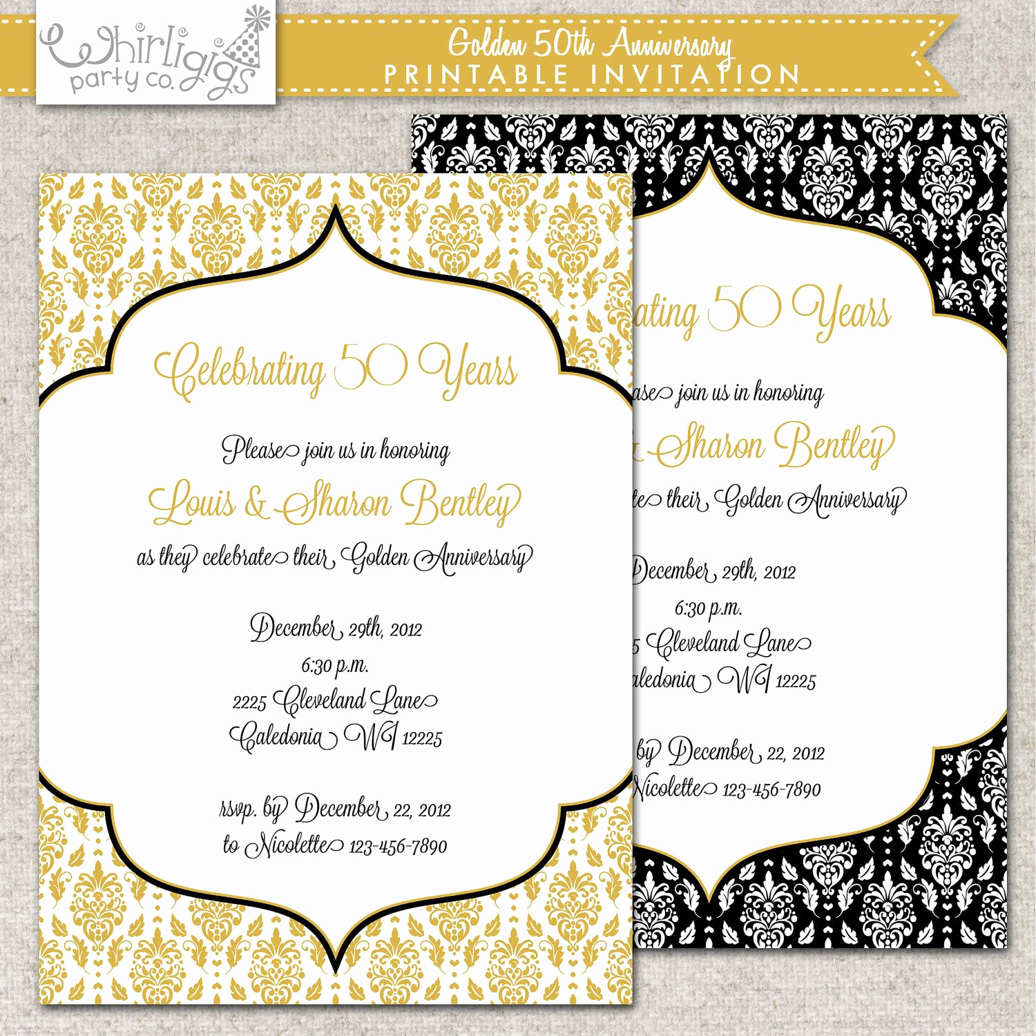 Anniversary Party Invitation Wording Fresh 50th Anniversary Invitation Golden Anniversary Invitation