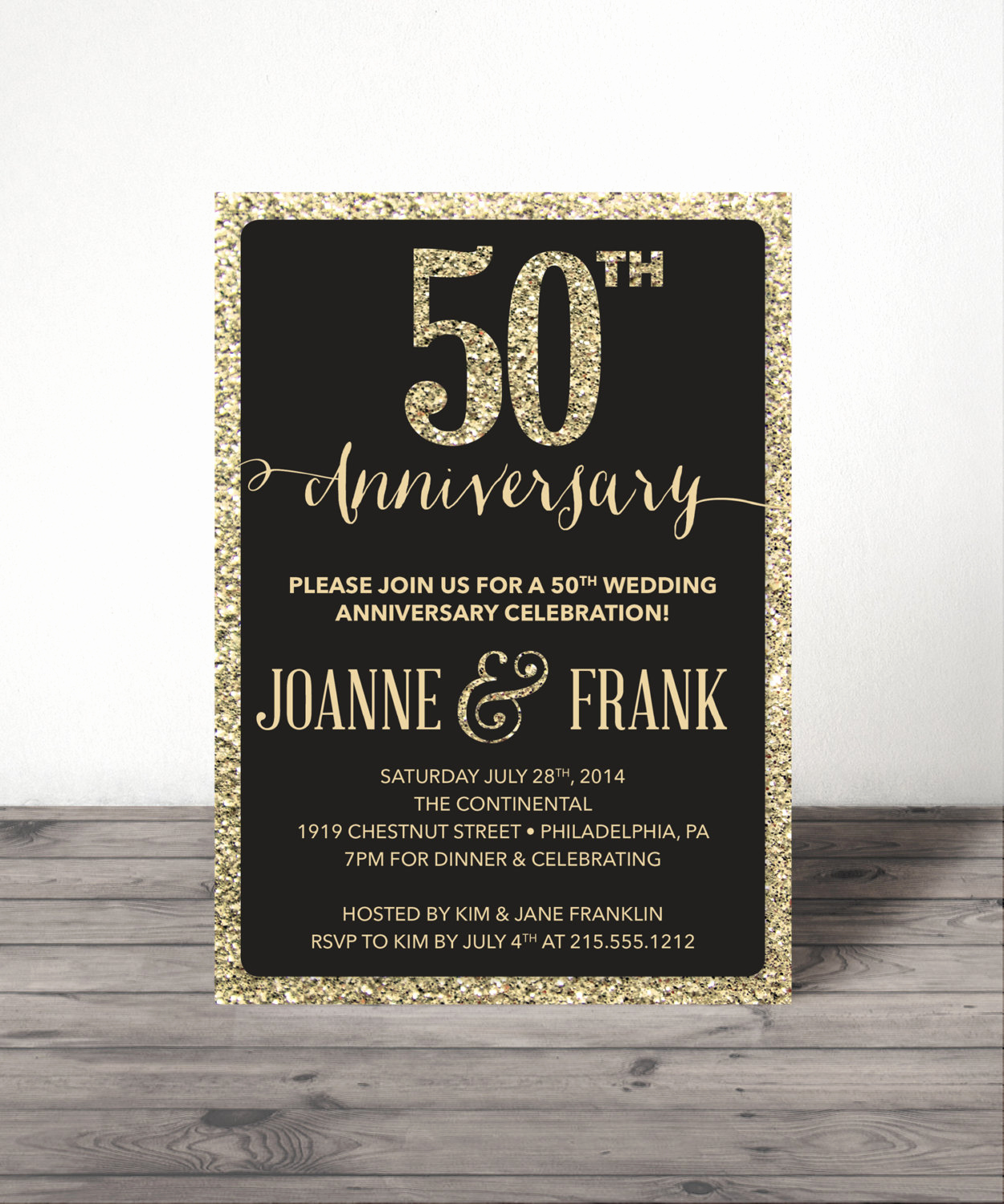 Anniversary Party Invitation Wording Inspirational Wedding Anniversary Invite 25th 30th 40th by