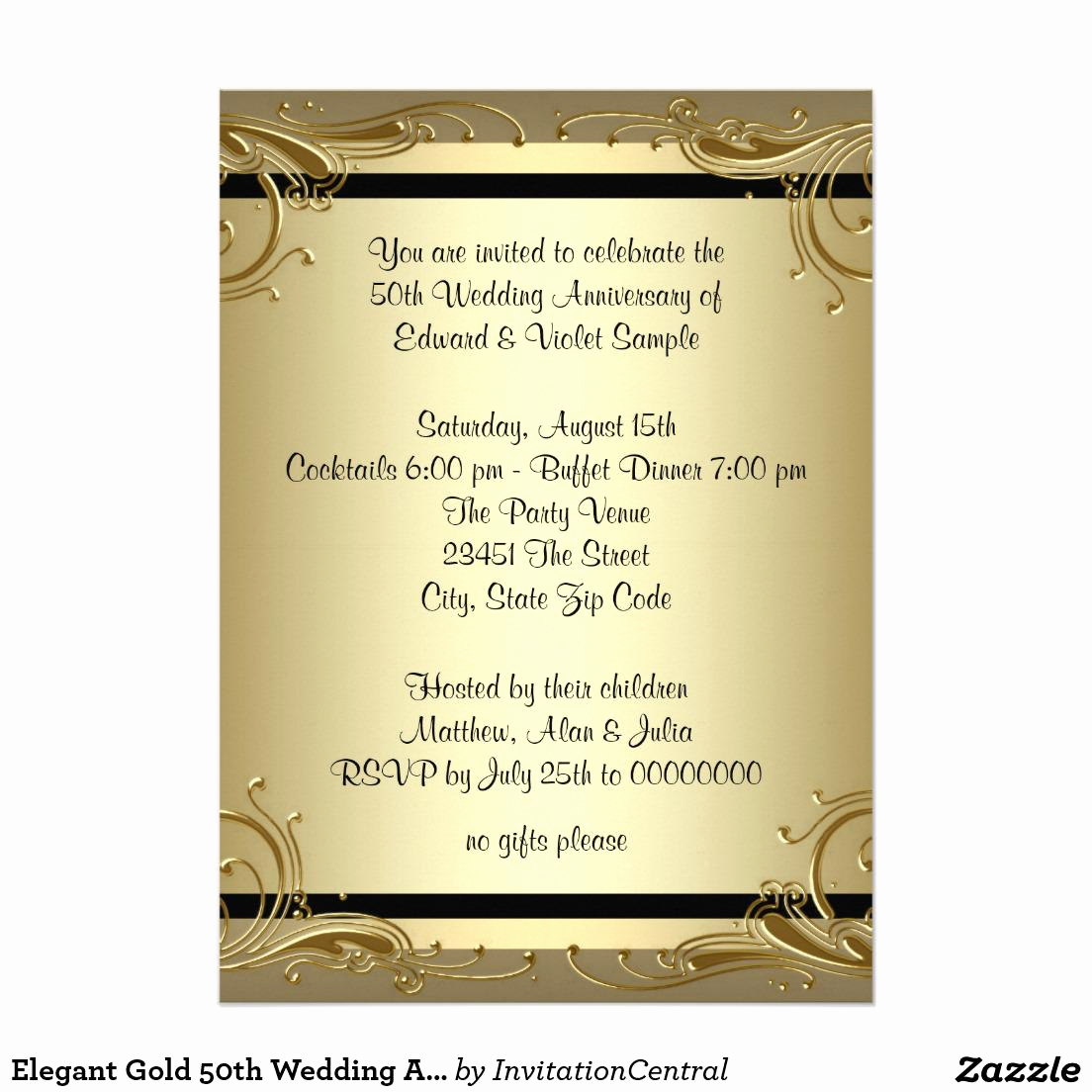 Anniversary Party Invitation Wording Unique Golden Wedding Anniversary Invitations 50th Wedding