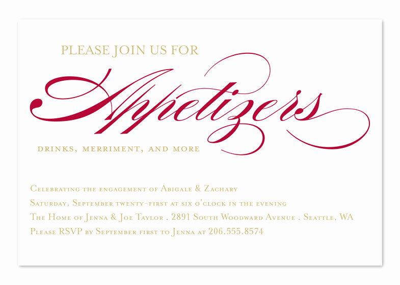 Appetizer Party Invitation Wording Elegant Invited for Appetizers Corporate Invitations by