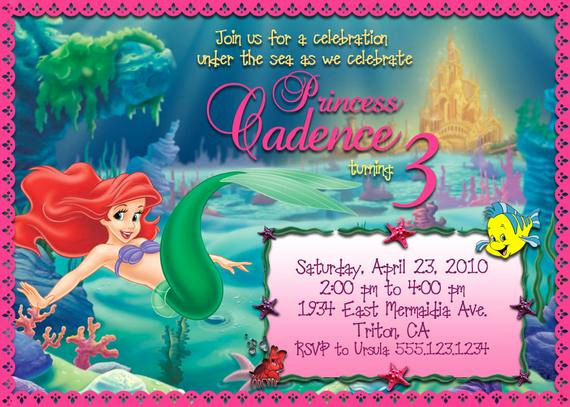 Ariel Invitation Template Free Awesome Items Similar to Printable Little Mermaid Birthday