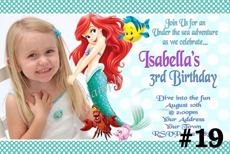 Ariel Invitation Template Free Best Of Mermaid Birthday Invitations Ideas – Free Printable