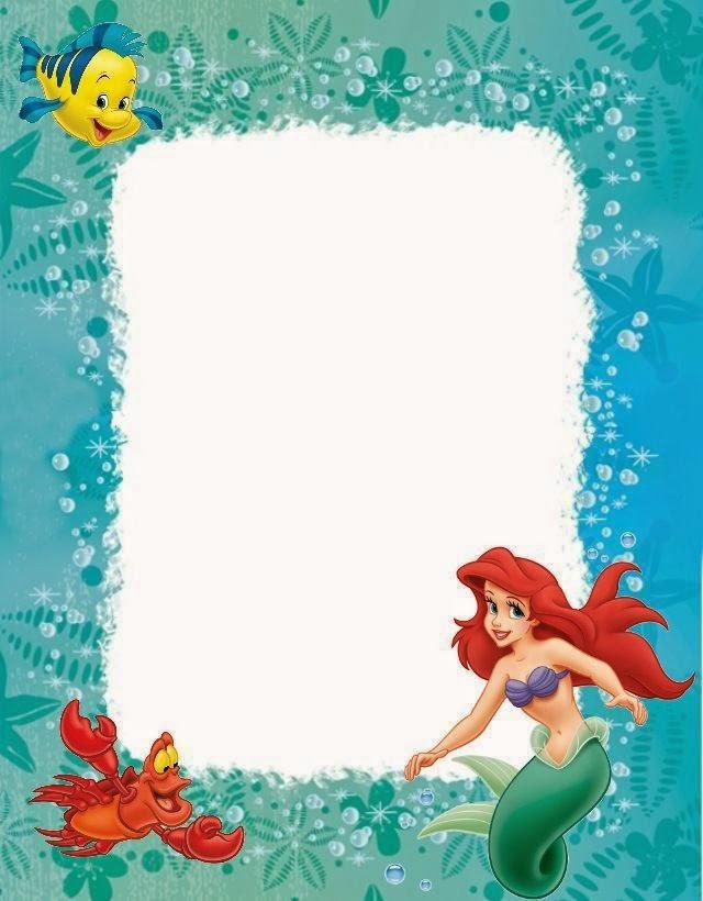 Ariel Invitation Template Free Elegant Little Mermaid Free Printables