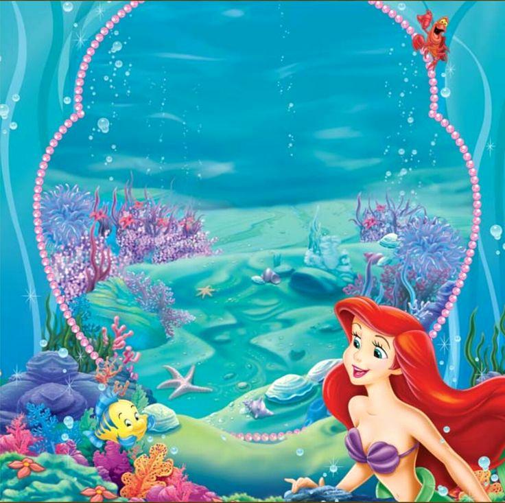 Ariel Invitation Template Free Elegant Little Mermaid … Londyn