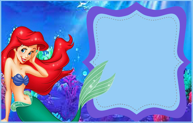 Ariel Invitation Template Free Fresh Little Mermaid Free Printable Invitation Templates