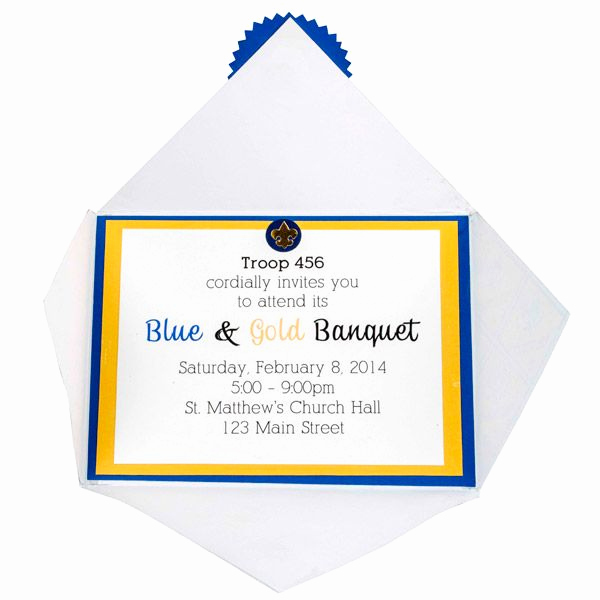Arrow Of Light Invitation Awesome Blue and Gold Program Template