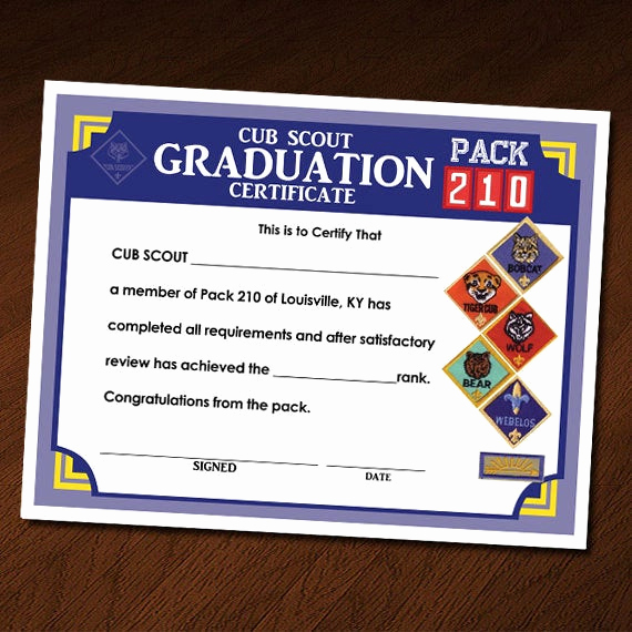 Arrow Of Light Invitation Elegant Cub Scout Graduation Ceremony Certificate