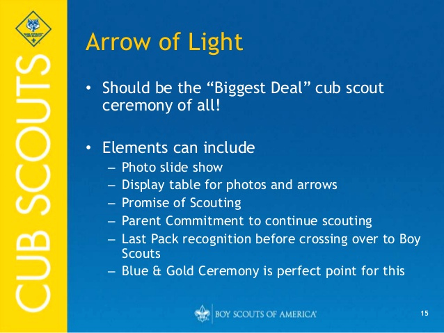 Arrow Of Light Invitation Lovely Ceremonies for Cub Scout Packs