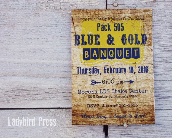 Arrow Of Light Invitation New Printable Blue and Gold Banquet Invitation Cub Scouts