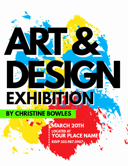 Art Show Invitation Template Best Of Art & Design Exhibition Flyer Template