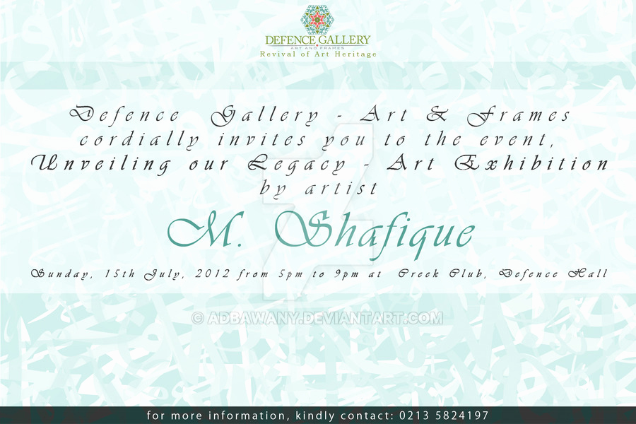 Art Show Invitation Template Fresh Art Exhibition Invitation Card by Adbawany On Deviantart