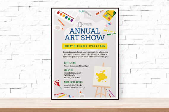Art Show Invitation Template Fresh Diy Printable School Art Show Flyer Template Word Flyer