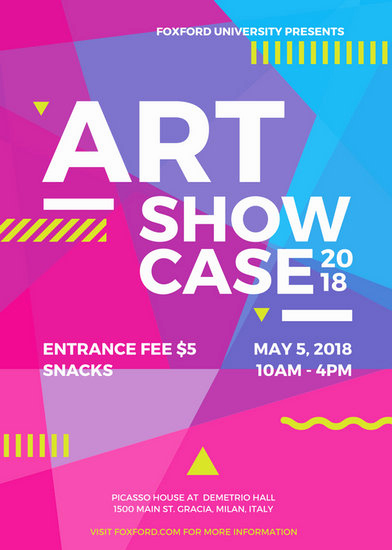 Art Show Invitation Template Fresh Flyer Templates Canva