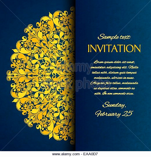 Art Show Invitation Template Fresh ornamental Invitation Card Gold Template Stock S