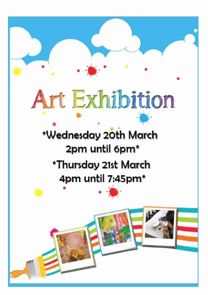 Art Show Invitation Template Fresh Scips Mag Our Art Exhibition is Nearly Here