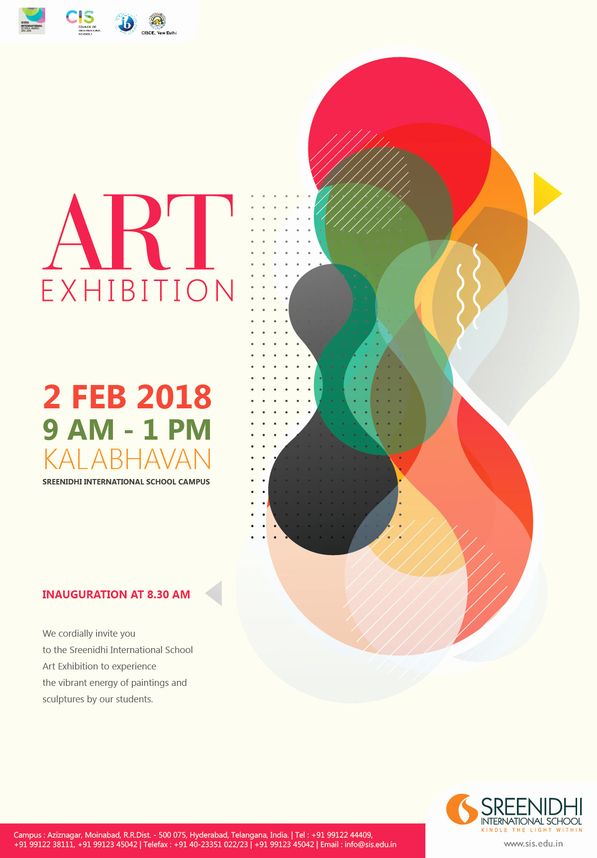 Art Show Invitation Template Fresh Sreenidhi International School