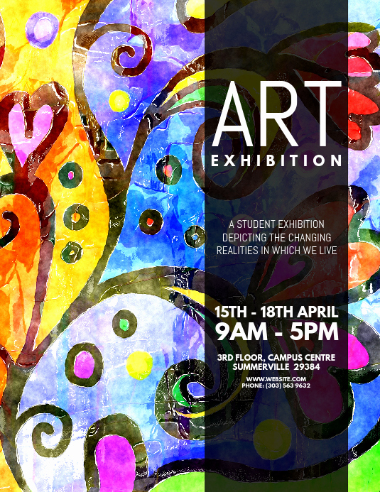 Art Show Invitation Template Inspirational Copy Of Art Exhibition Flyer
