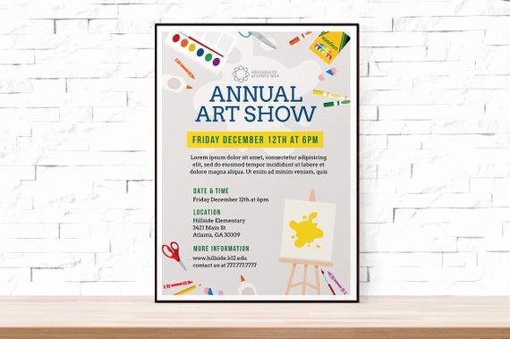 Art Show Invitation Wording Elegant Diy Printable School Art Show Flyer Template Word Flyer