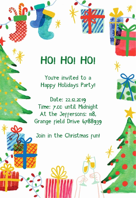 Art Show Invitation Wording Inspirational Christmas Party Invitation Templates Free